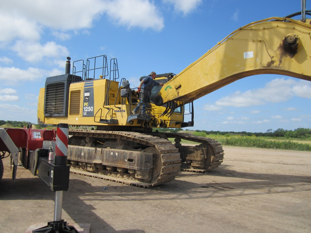tear down break down of excavator for transport