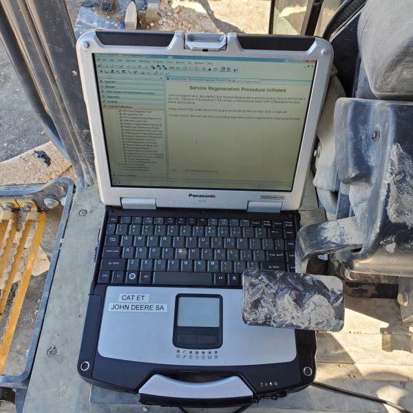 laptop regen on cat skid steer
